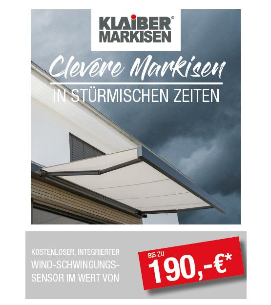 Winterangebot Klaiber-Markisen bei Seeckts in Göttingen