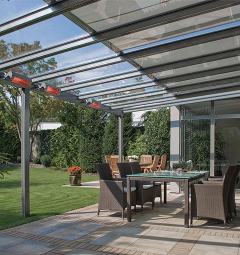 Glasdach für Terrassen